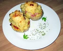 receta Patatas asadas rellenas con huevo