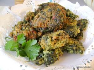 receta Bocaditos de espinaca y arroz integral