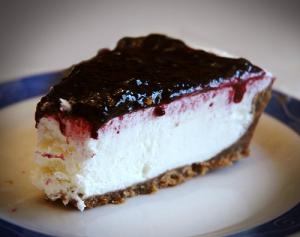 receta Tarta de queso con mermelada de cerezas