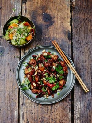 receta Pollo Kung Pao de Jamie Oliver