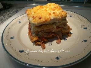 receta Pastel de Pollo y Bacón